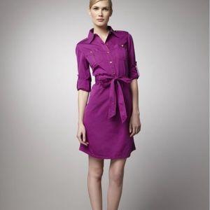 🎉HP🎉Tory Burch Brigitte Shirt Dress w/Belt 8